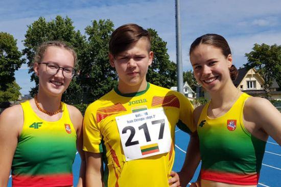 Baltijos šalių jaunių ir jaunimo lengvosios atletikos čempionate iškovotas medalis