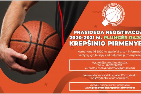 Prasideda registracija į krepšinio pirmenybes